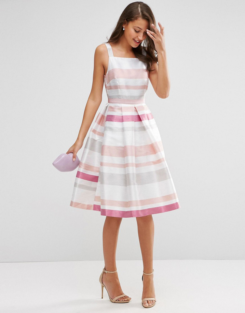 ASOS tall stripe prom dress