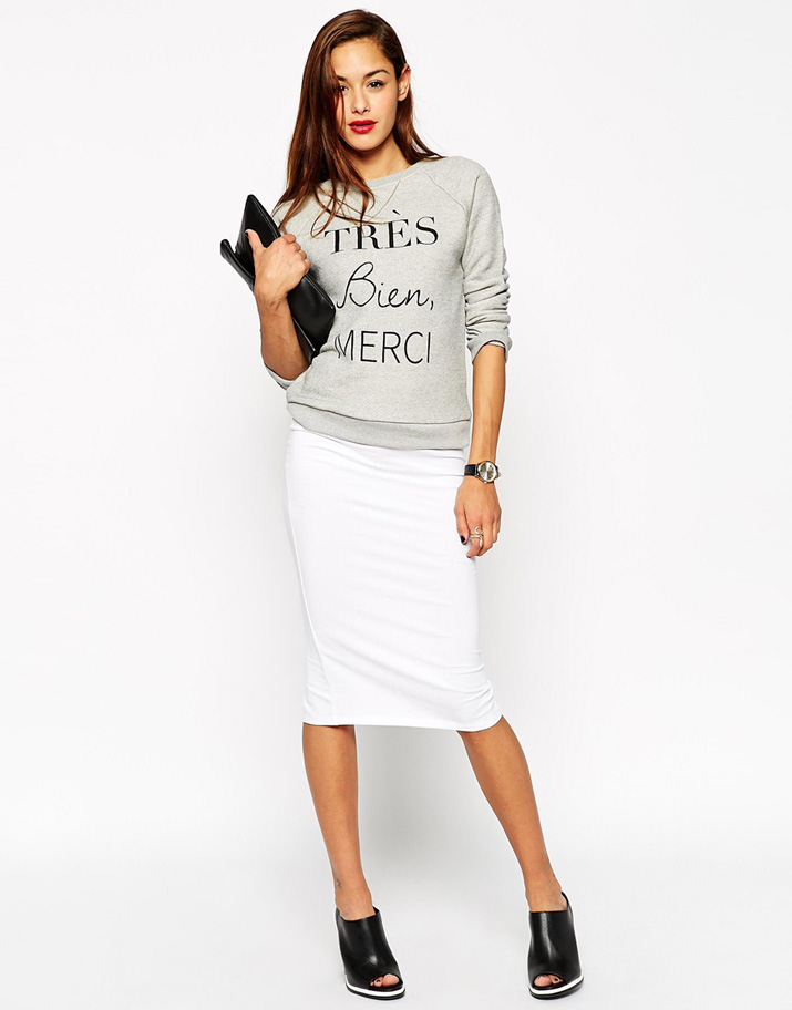 pencil skirt and sweater