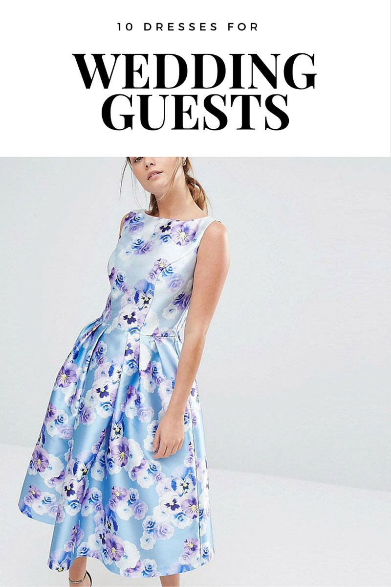 10 dresses for wedding guests