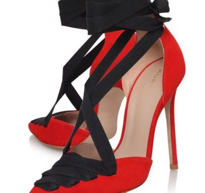 Kurt Geiger 'Siene' red pumps