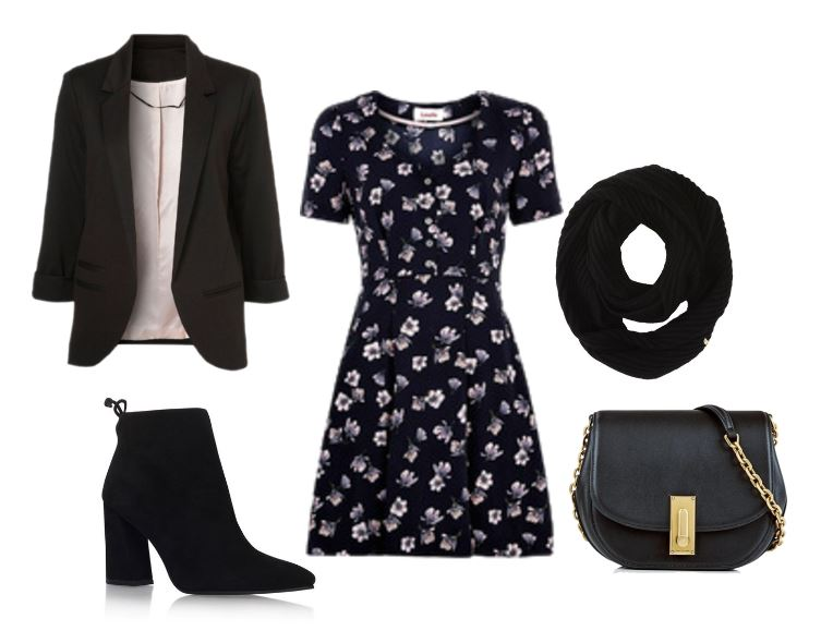 how to wear a blazer: with a dress