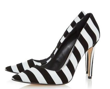 black and white stripe shoes