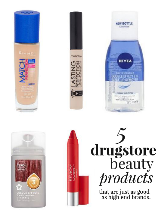 5 drugstore beauty products that are just as good as high end brands