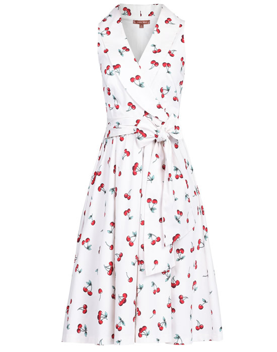 White cherry print sundress