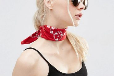 red bandana neckerchief