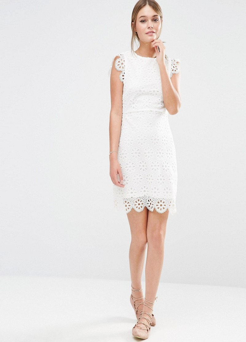 New Look floral lace shift dress