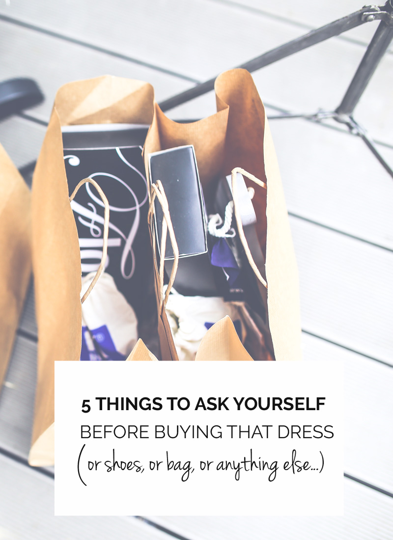 5 things to ask yourself before buying something new