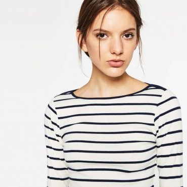 stripe zara top
