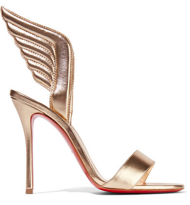 Christian Louboutin Samotresse 100 metallic leather sandals
