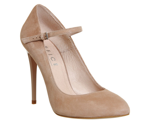 suede mary jane court shoes