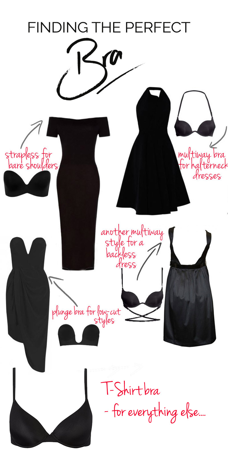 a guide to finding the perfect bra for your dress