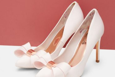 Ted Baker bow front court shoes