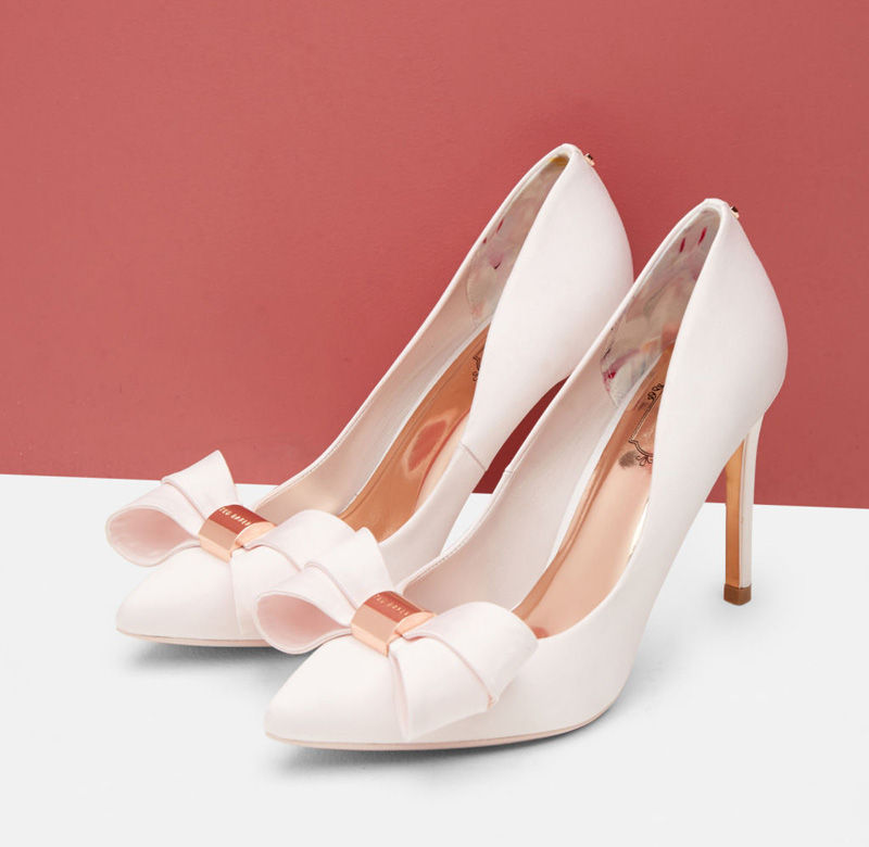 edaa320114c Ted Baker bow front court shoes