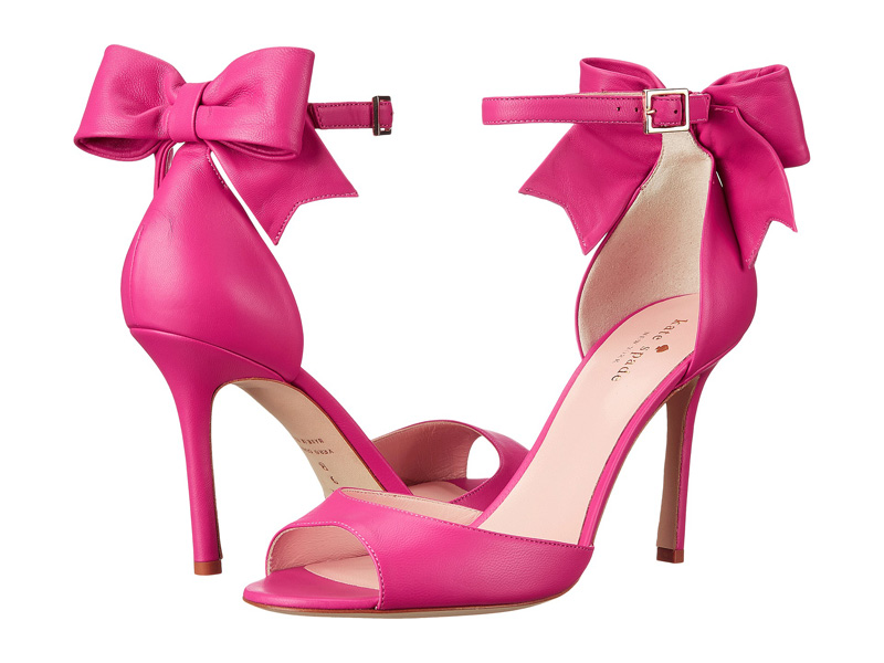 Kate Spade hot pink bow shoes