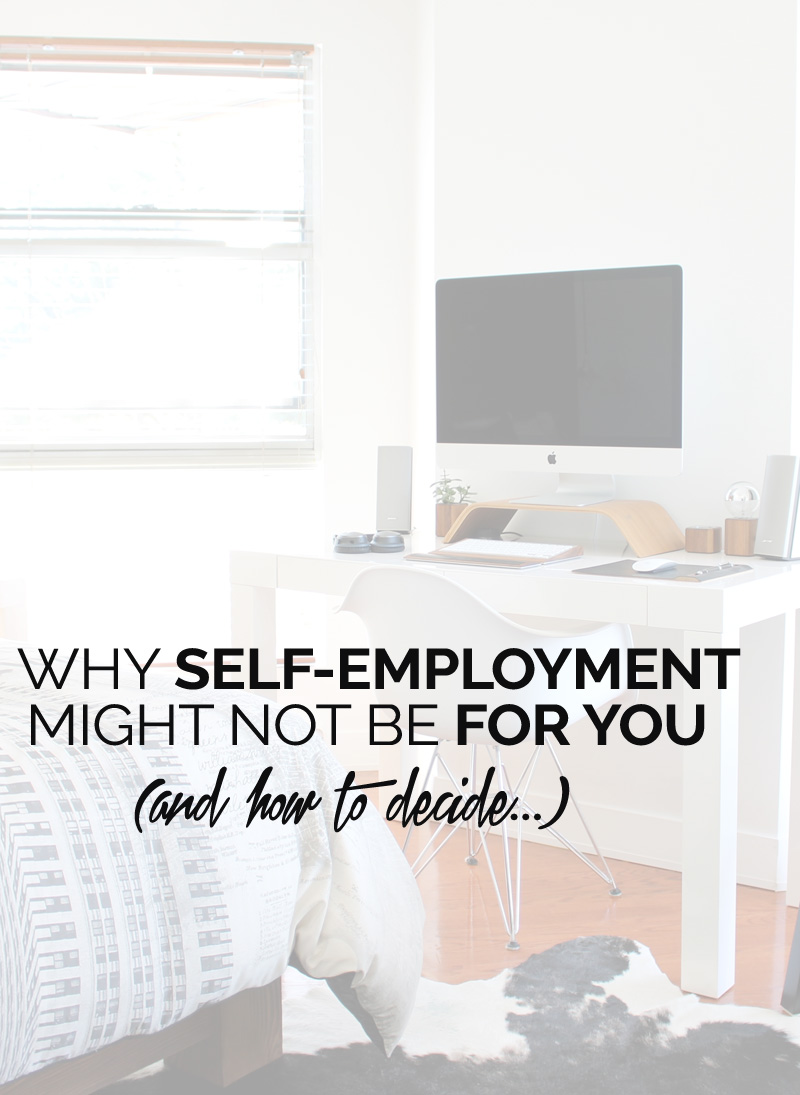 reasons self-employment might not be for you
