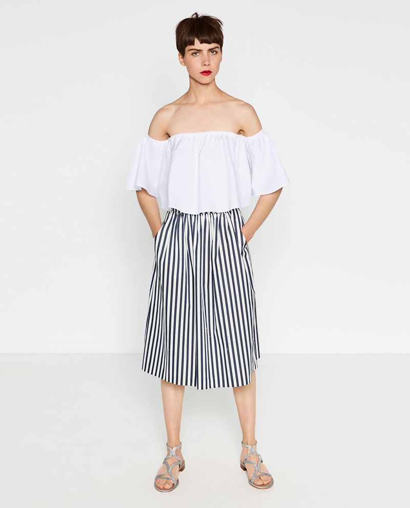 Zara stripe skirt