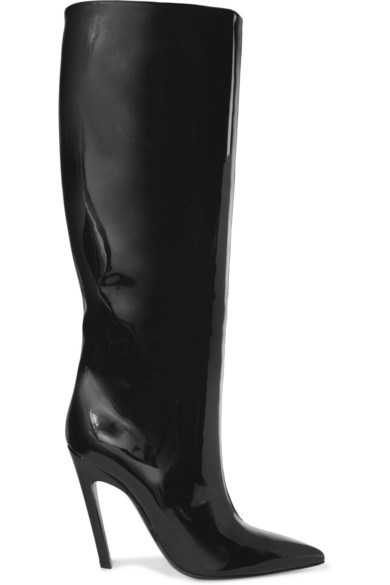 Balenciaga patent leather knee boots