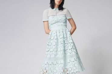 Warehouse blue lace dress