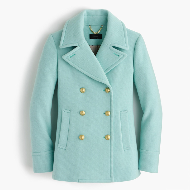 J Crew Majesty Peacoat in Mint