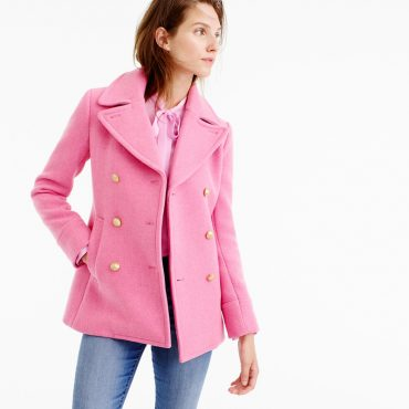 J Crew Majesty Peacoat in pink