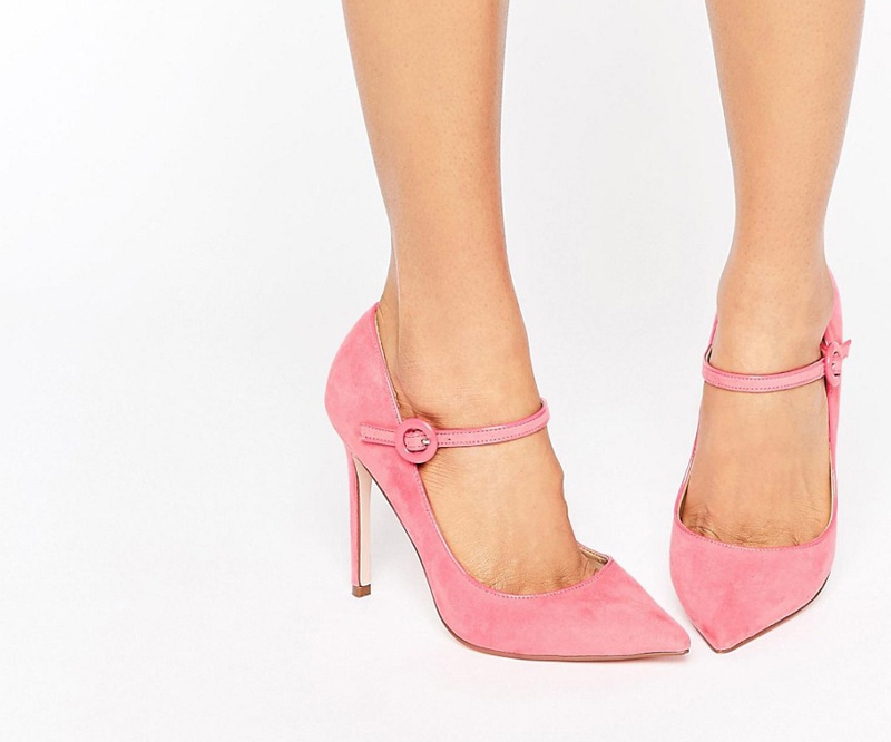 pink Mary Jane high heels