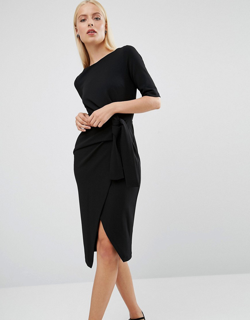 black knot front dress