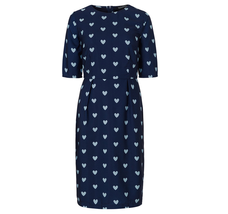 Micha heart print shift dress