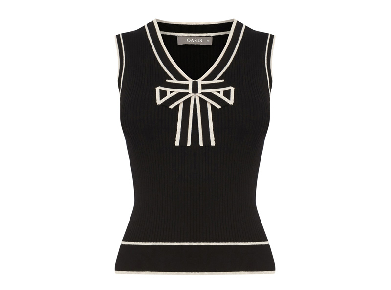 Oasis Tipped Bow Tank Top
