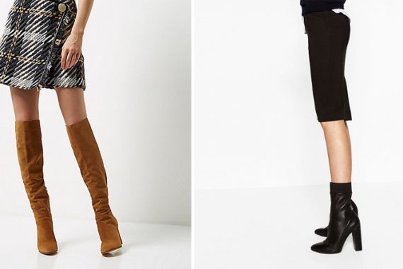two pairs of boots for autumn