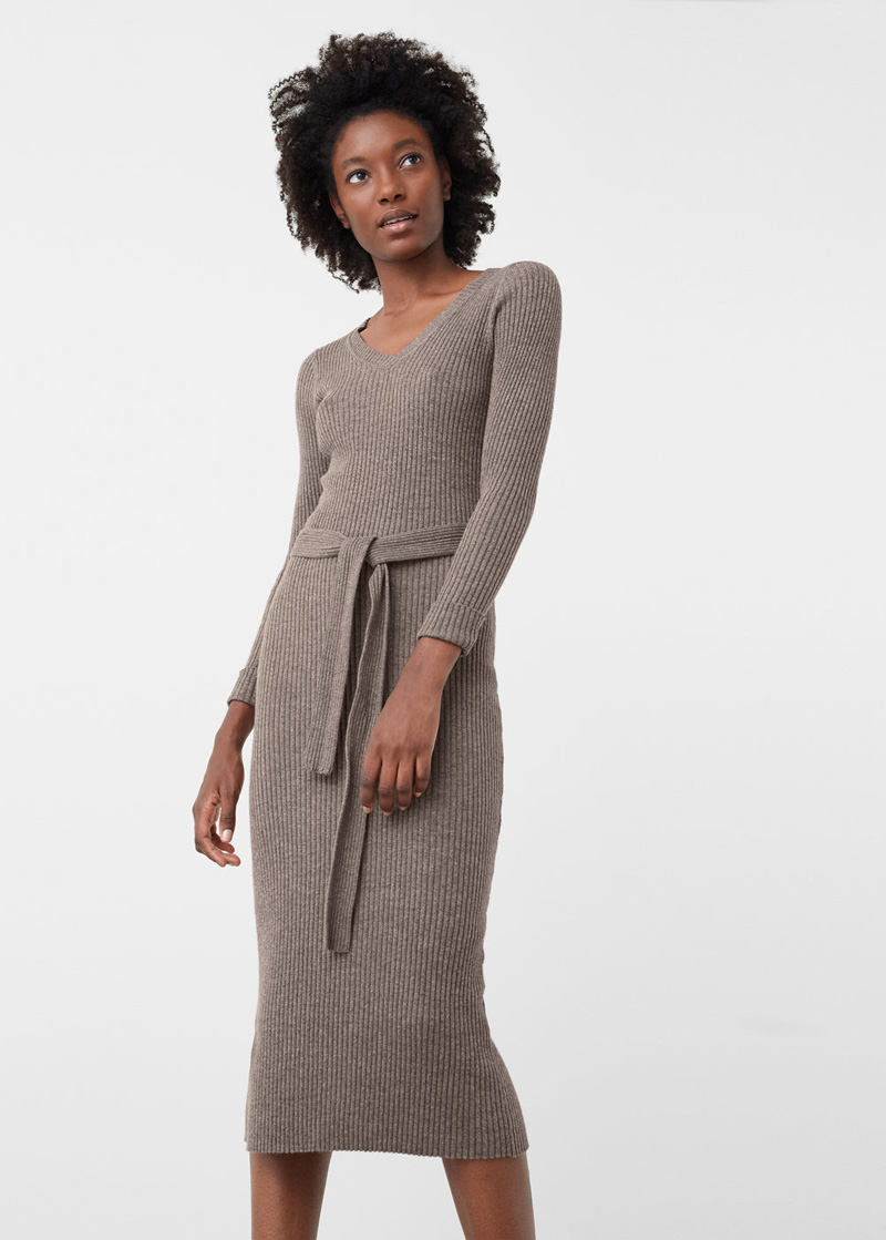 Mango ribbed dress