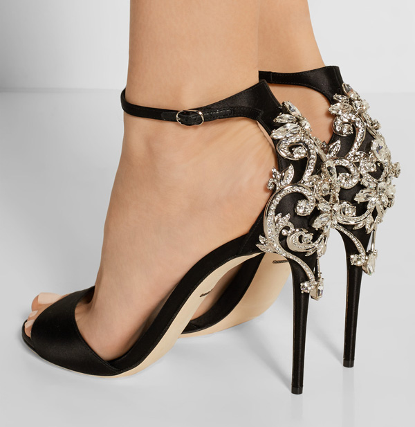 Dolce & Gabbana embellished satin sandals