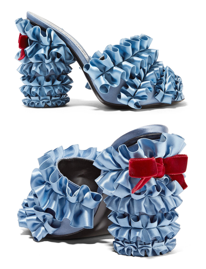 Marco De Vincenzo ruffle pumps