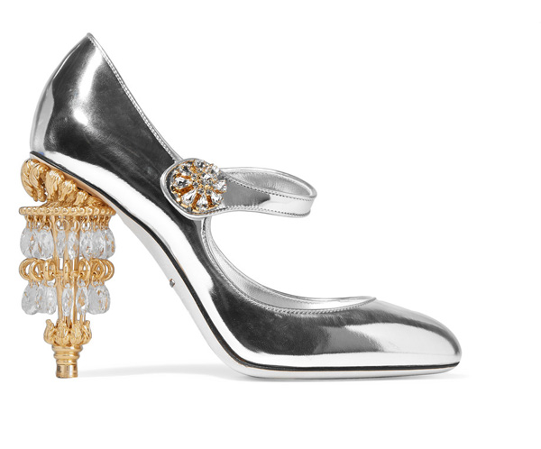 Dolce & Gabanna metallic leather Mary janes