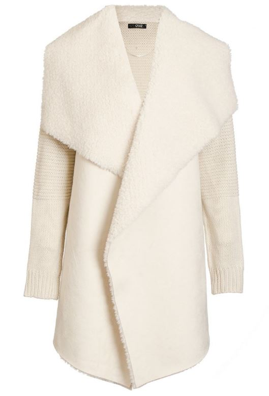 cream knit waterfall jacket