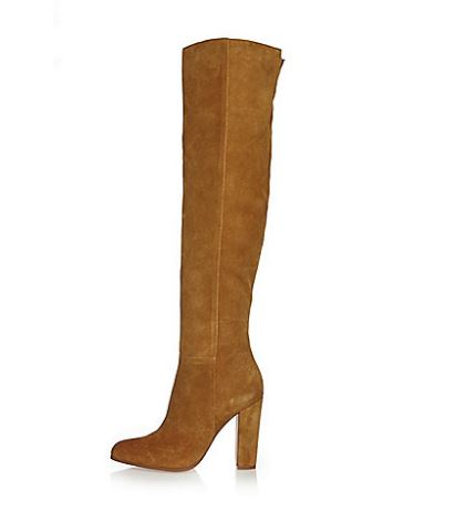 tan suede knee boots