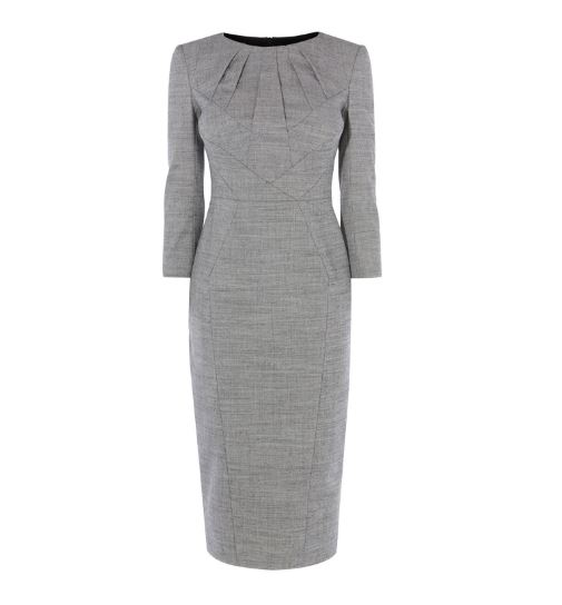 Karen Millen grey tailored dress