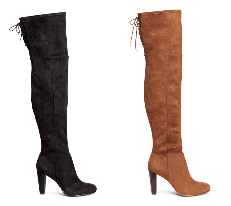 H&M thigh high boots