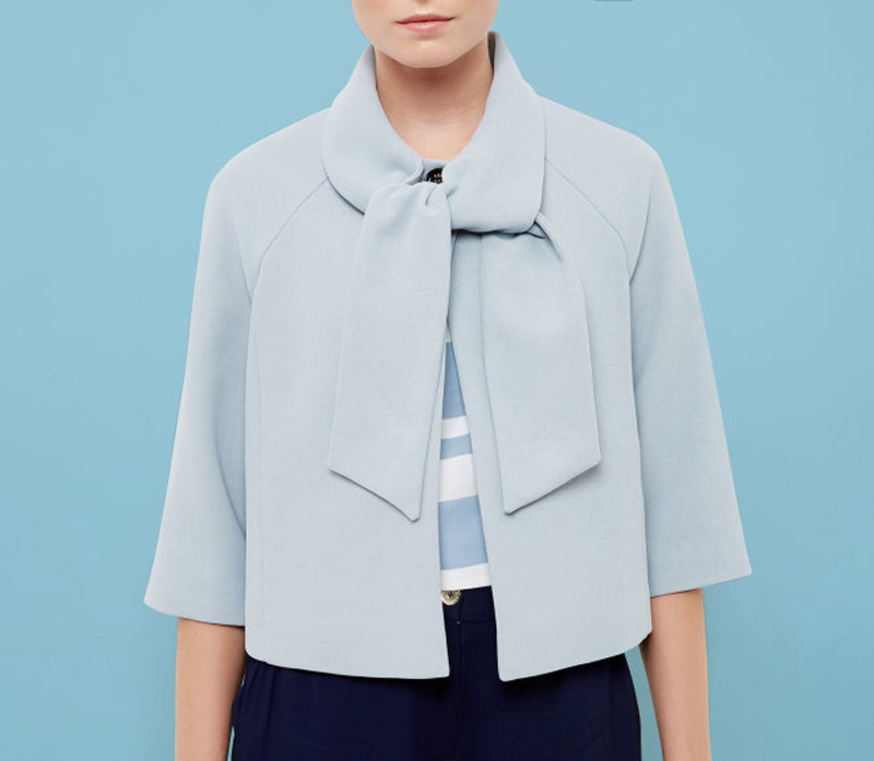 Ted Baker blue neck-tie jacket
