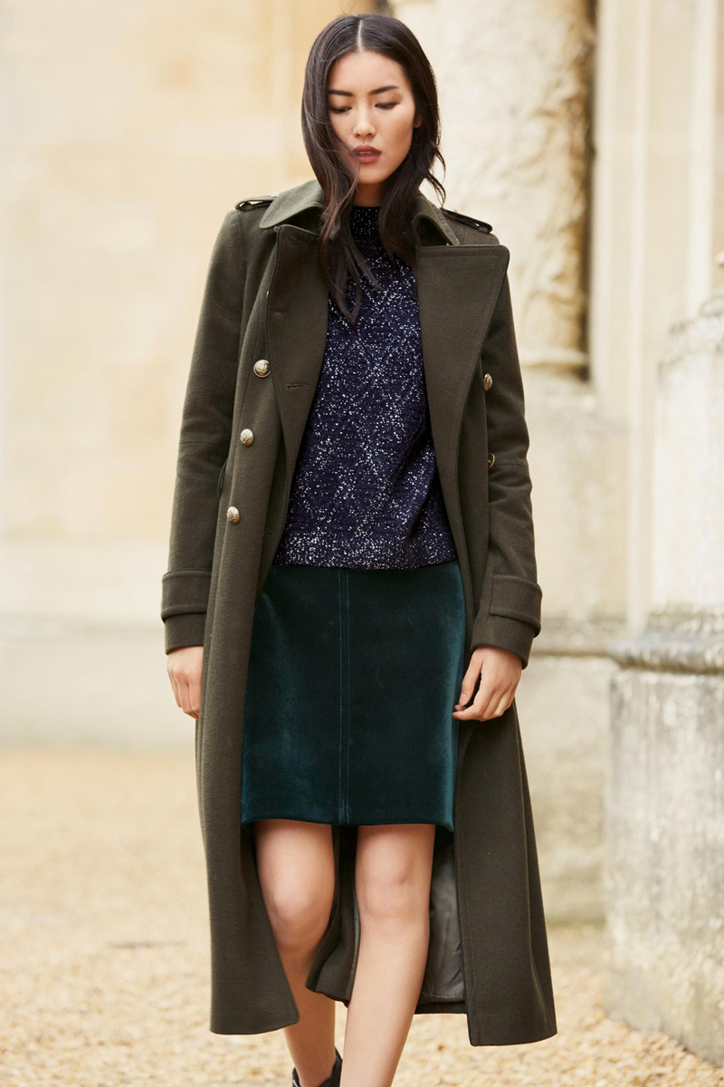 Next Khaki military coat