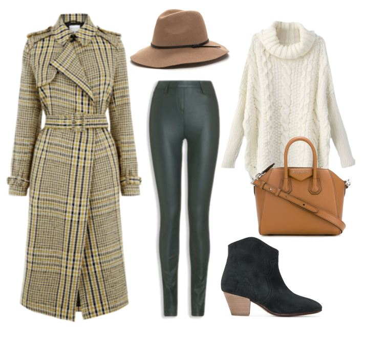 casual autumn outfit with trench