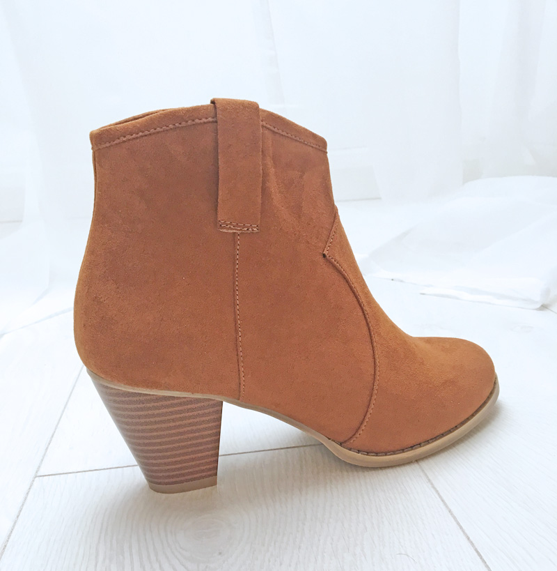 tan Western inspired ankle boots