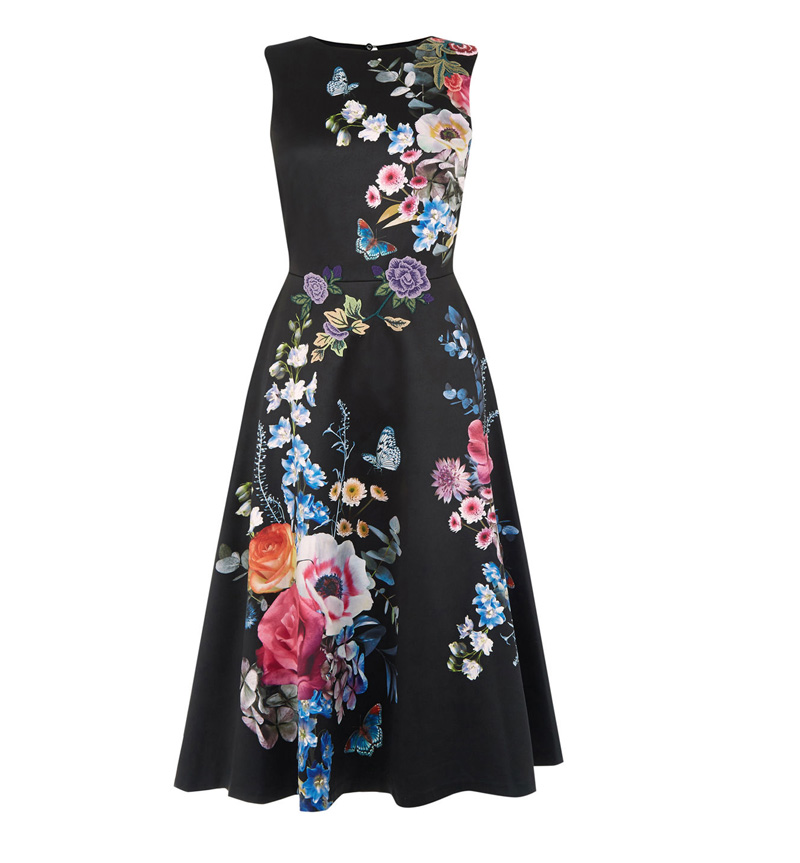Oasis silky floral midi dress