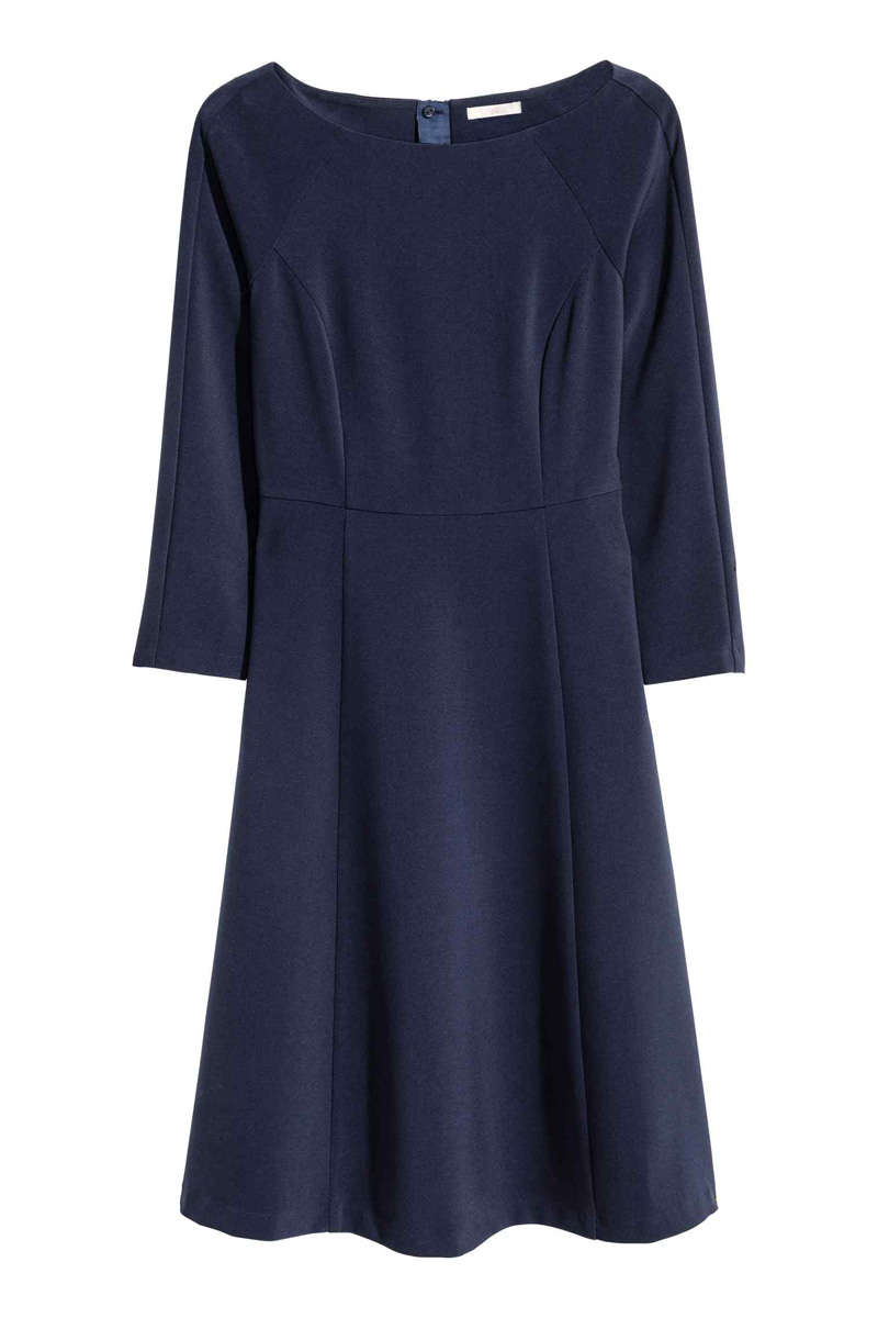 navy boatneck dress