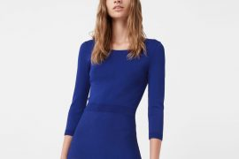blue knit dress