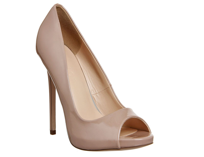 Office 'Notebook' nude peep toes