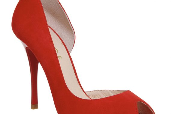 Office 'Niagra' red peep toes