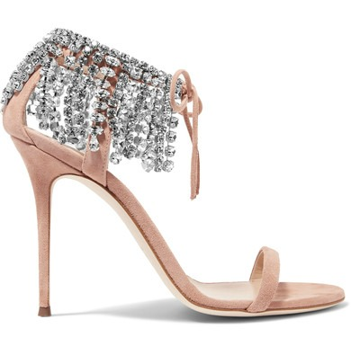 Shoeper Shoesday | Giuseppe Zanotti 'Carrie' crystal-embellished suede sandals