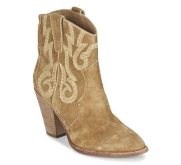 Ash camel ankle boots