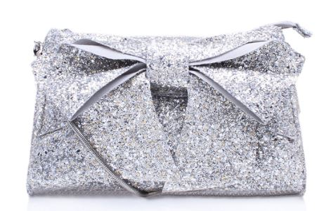 Miss Kg silver bow bag