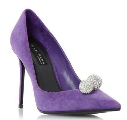 Dune 'Buckingham' purple embellished court shoes